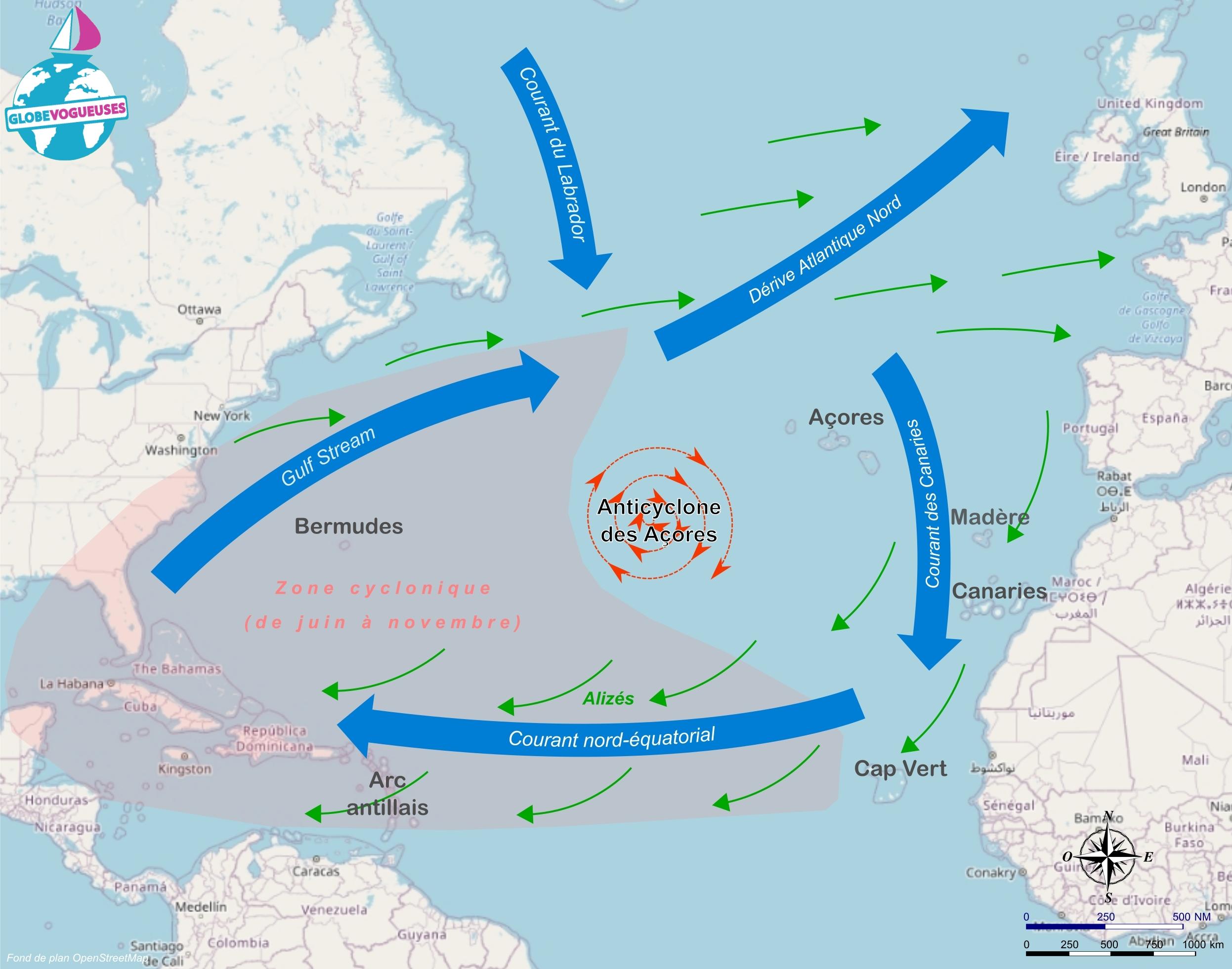 Carte Atlantique Nord